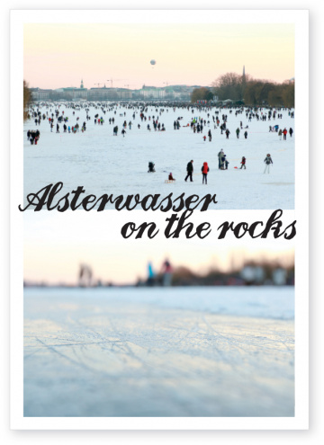 Postkarte Alsterwasser on the rocks