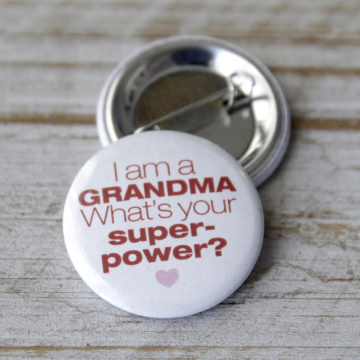Button Superpower Grandma