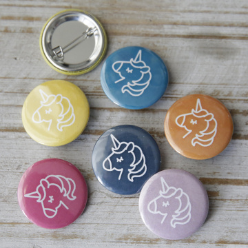 Button Einhorn solid